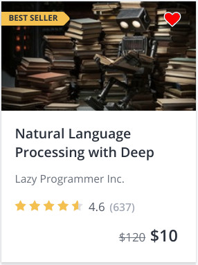 natural language processing (NLP) Archives - Lazy Programmer